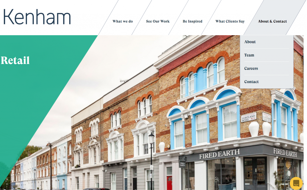 London construction company website design